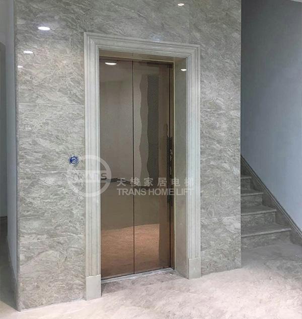 维维龙湖湾别墅电梯安装